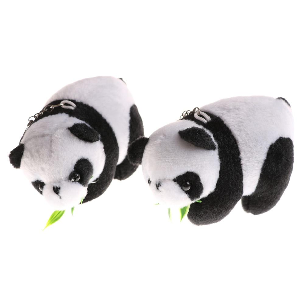 1PC 10cm Mini Kawaii Doll Big Panda Plush Keychains Christmas Gift Pendant Toys Send Friend Children Cartoon Animals Toy Gift