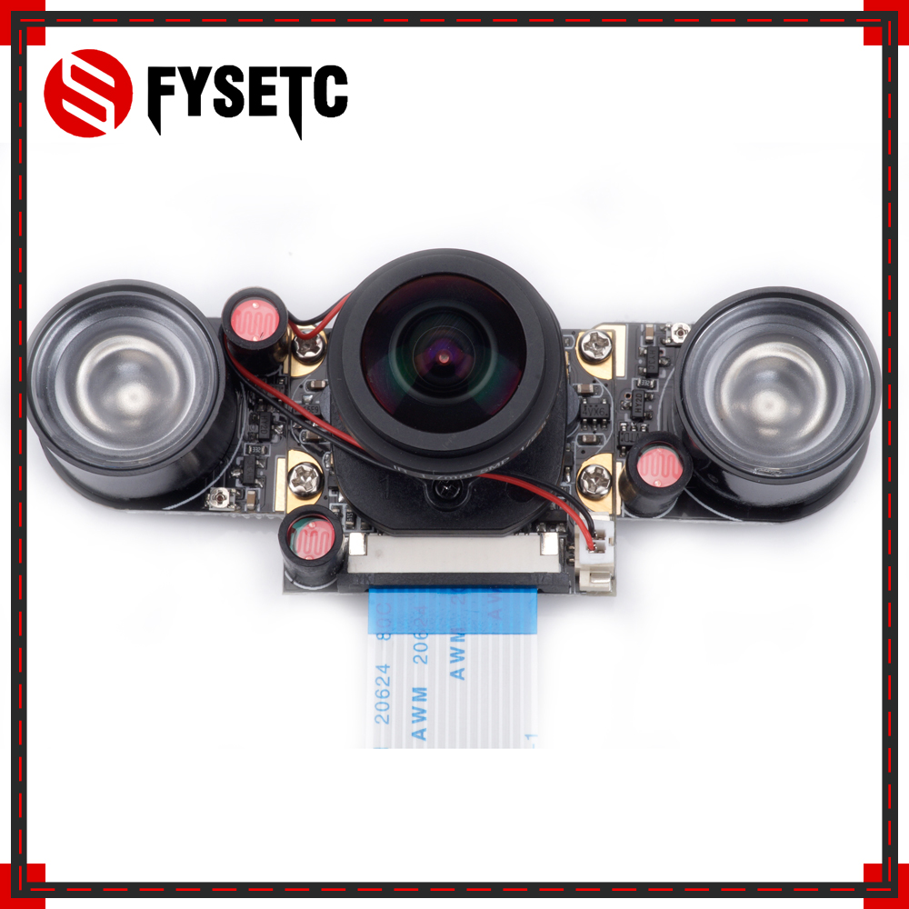 Raspberry Pi 3 Model B+ IR-CUT 175 Degree Camera Focal Adjustable Night Vision Automatic Switch Mode Camera For Raspberry Pi 3/2