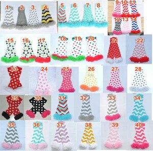 Image 2 - 200 estilos bebê babados aquecedores de perna infantil natal feriado do dia das bruxas chiffon plissado leggings quentes joelheiras