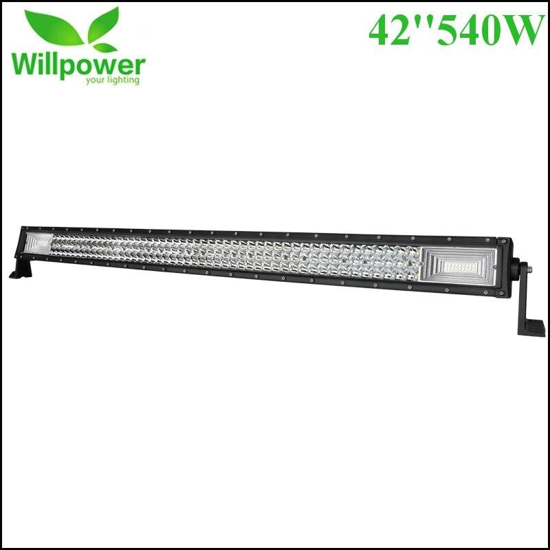 42 540W LED Light Bar Offroad Combo 3 Row Led Light Beam for Car Truck Trailer