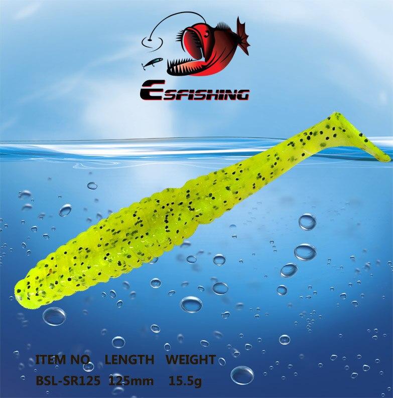 Fishing Lure Soft Tail Shine 4pcs 12.5cm/15.5g Esfishing Worm Stagger 5 Swimbait Bass Crankbait Spinner Carp Trout Perch