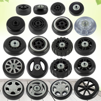 Suitcase Wheels 2 Sets Luggage Suitcase Replacement Wheel Repair Tool Casters High Quality Black Bags Accessories Wheel Hot