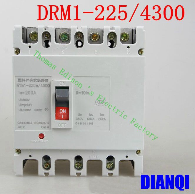 CM1-225/4300 MCCB 100A 125A 160A 180A 200A 225A molded case circuit breaker CM1-225 Moulded Case Circuit Breaker 400 amp 3 pole cm1 type moulded case type circuit breaker mccb