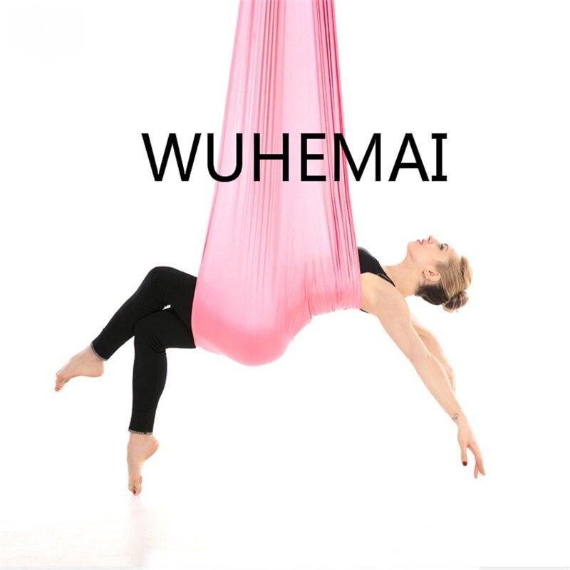 Wuhemai vol Anti-gravité yoga hamac balançoire tissu dispositif de Traction aérienne la ceinture de yoga professionnelle de la salle de yoga élastique - 6