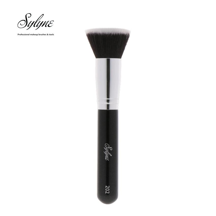 Sylyne Flat Top полировка Foundation Brush #202 высокое качество Кисточки для макияжа.