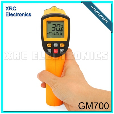 GM700 Non-Contact 12:1 LCD display IR Infrared Digital Temperature Gun Thermometer -50~700C (-58~1292F) 0.1~1.00 adjustable  цены