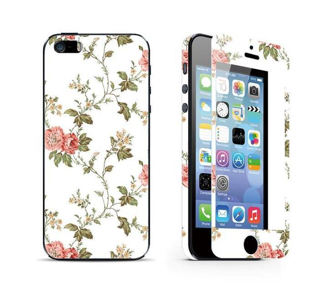 pretty nice 80425 e4d7f US $7.99 |Flower rattan Luxury Sticker For Iphone 5 5S SE Tempered Glass  Screen Protector iphoneSE iphone5s iphone5 phones film-in Phone Screen ...