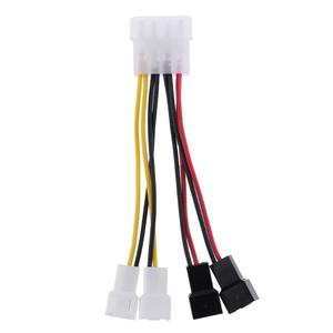 Image 2 - 1pcs 4 Pin Molex to 3 Pin fan Power Cable Adapter Connector 12V Computer Cooling Fan Cables for CPU PC Case Fan