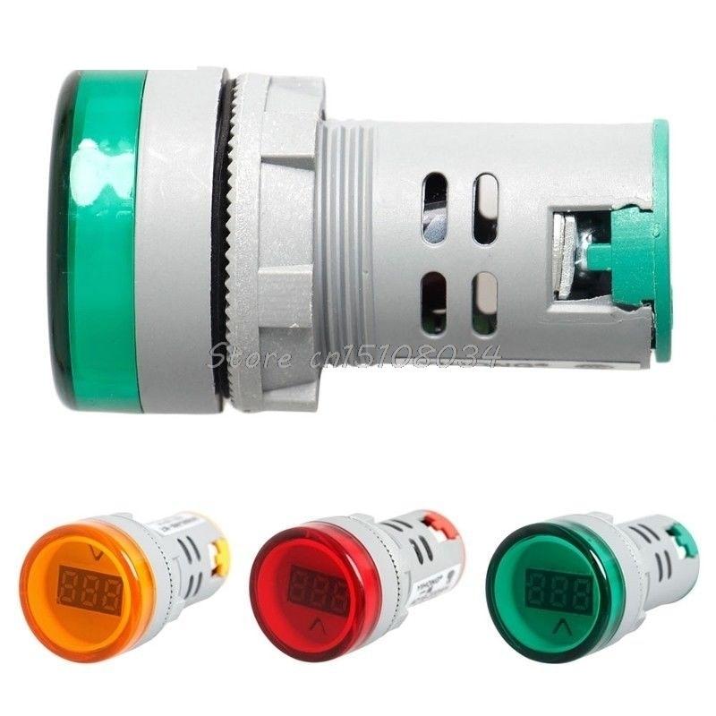 22 mm-es digitális kijelzős voltmérő lámpák Combo AC 60V-450V - Mérőműszerek - Fénykép 1