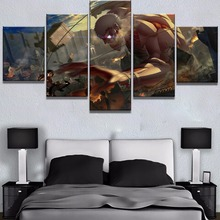 5 Piece HD Print Attack on Titan Anime Poster Modern Decorative Paintings Canvas Wall Art for Home Decorations Decor
