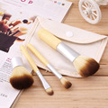 4 pcs Pro Maquiagem Cosméticos Escova Blush Foundation Pó Kabuki Brushes Kit Set