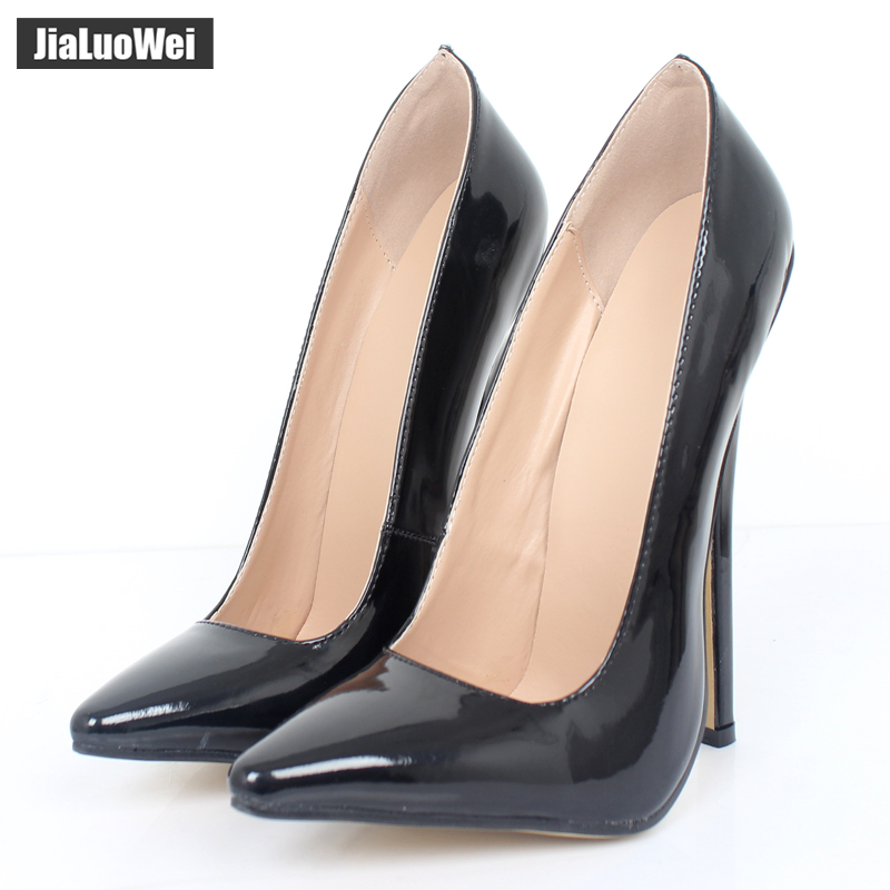 e77bccb4b5e3 Jialuowei FETISH 6 inch EXTREME HEEL Funtasma high heel ballet shoes Sexy  Patent Heels Halloween ballet shoes Plus size 36 46-in Women s Pumps from  Shoes on ...