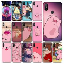 Yinuoda Cartoon Anime Gravity Falls pig black Phone Case for Xiaomi Mi 6 Note3 8 8SE Redmi 5 5Plus Note4 4X Note5 Cellphones(China)