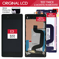 Tested Original 4.5 INCH Black White 854x480 Display For SONY Xperia E3 LCD Touch Screen Digitizer D2243 D2212 D2203 with Frame