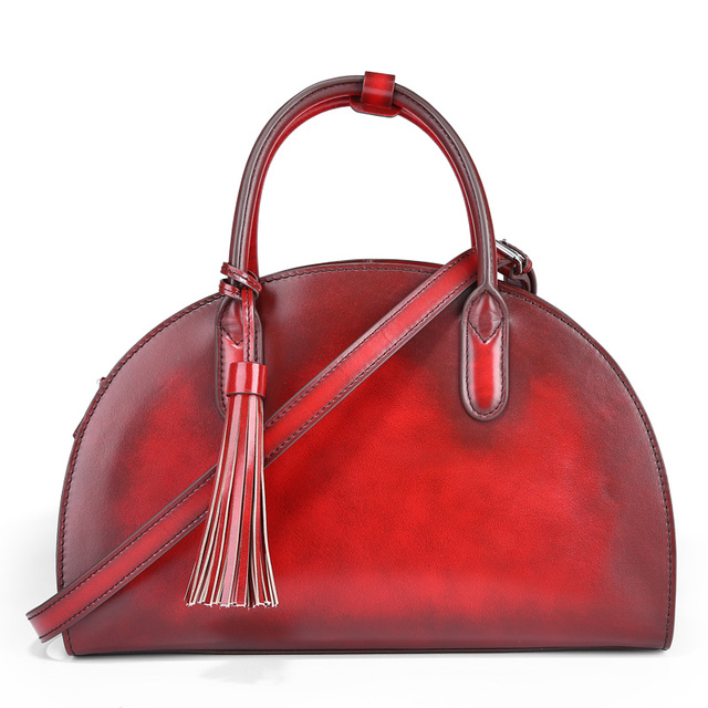 Terse China Factory Manufacturer Handmade Italian Clafskin Leather Handbag Fashion Office Ping Party Shoulder Bag For Women