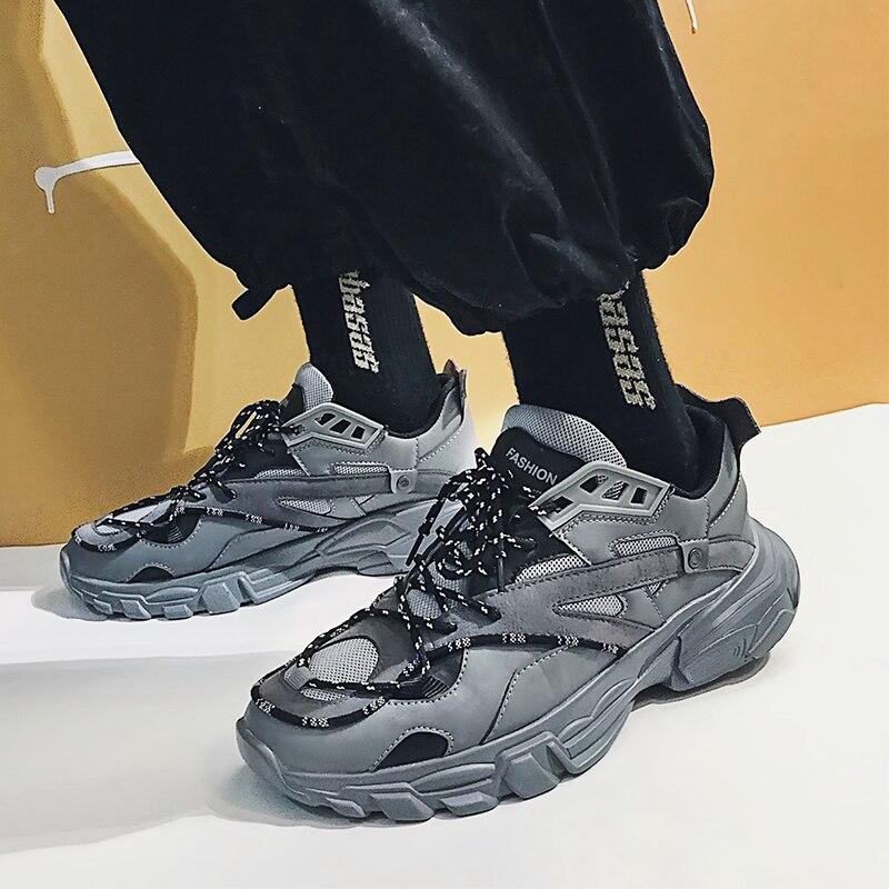 Vintage Papa Hommes Chaussures 2019 Kanye Croix Sangle Mode Ouest Maille Légère Respirant Hommes décontracté Chunky Sneakers V2 Zapatos Hombre