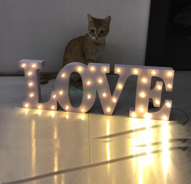 light love batteries operated not included led marquee sign light up letters