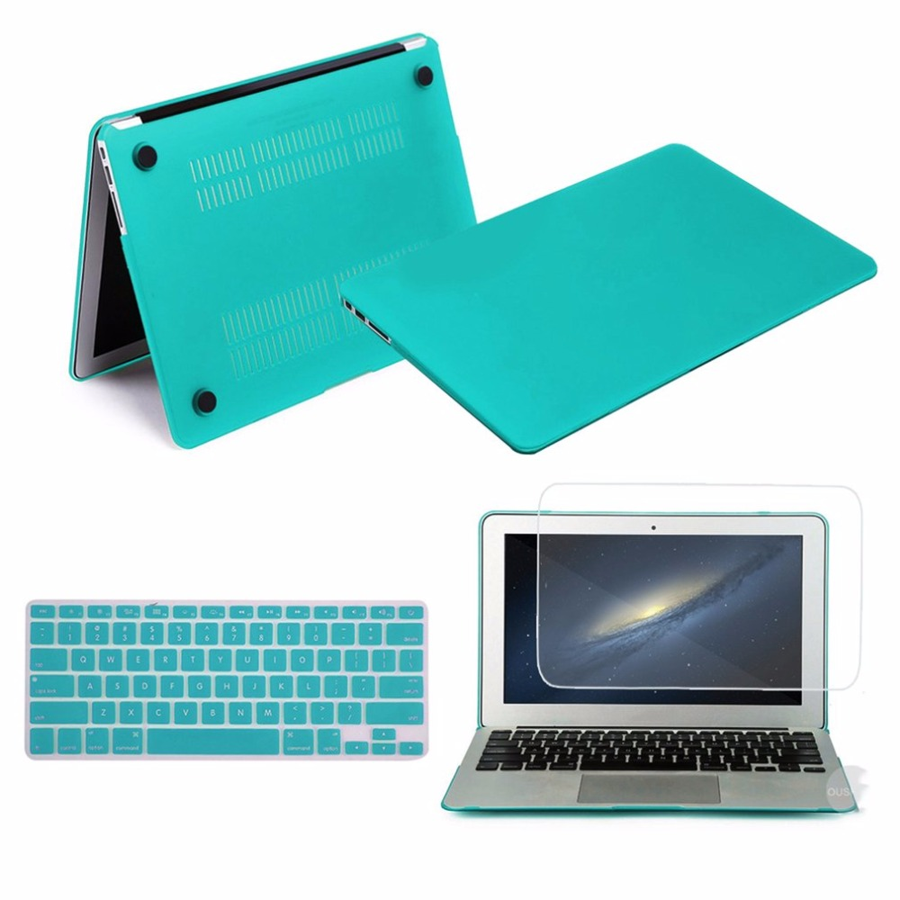 Thin Solid Cover Notebook Full Coverage Laptop Sleeve Case Hard Case Cover with Screen Keyboard protector For Macbook air 13 mr northjoe ultra slim crystal hard case keyboard cover anti dust plug set for macbook pro 13 3