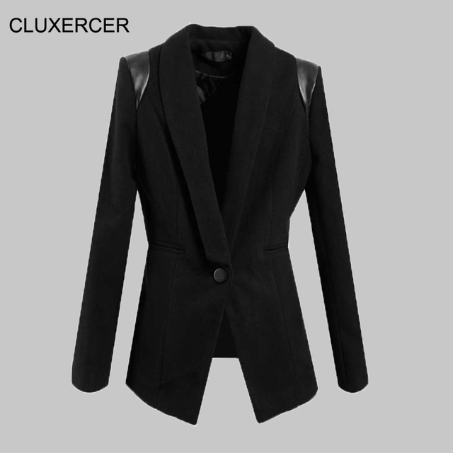 CLUXERCER Marque Femelle veste survêtement automne femmes costume design  slim femmes vestes costume de mode veste ad5bbec3ca8