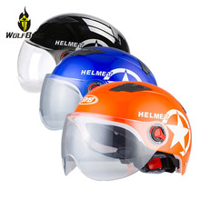 Cycling Helmets with Transparent Windproof Sunscreen Lens Outdoor Sports Scooter Snowboard Motorbike Bike Bicycle Safety Caps