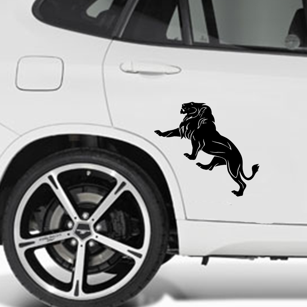 The lion car stickers super large 20cm10cm black white reflective car styling covers accessories