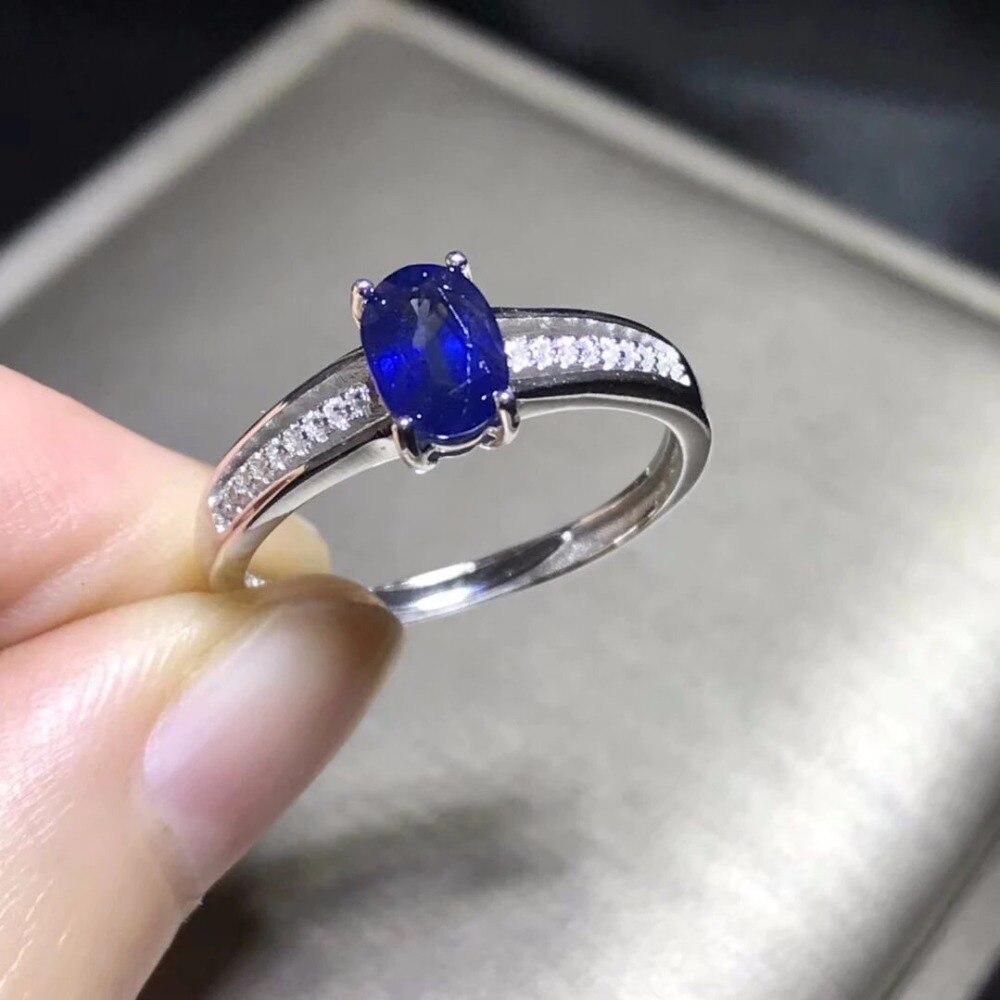 Qi Xuan_Fashion bijoux _ bleu pierre Simple élégant femme Rings_S925 solide argent mode rings_fabricant directement ventes