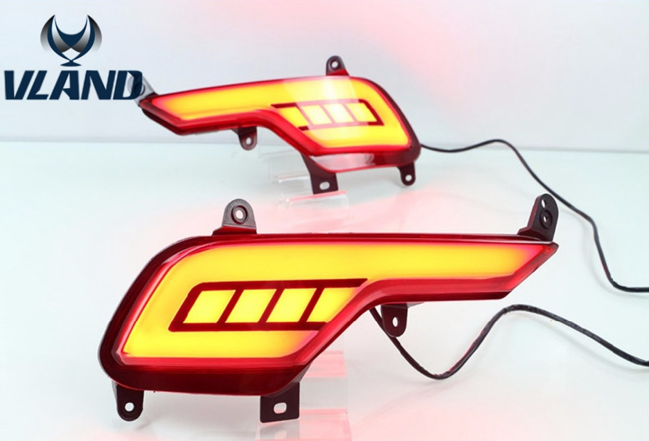 Free shipping for bumper Lights for Hyundai IX45 New SantaFe back bumper light 2014 2016 free shipping frame for hyundai new santafe car