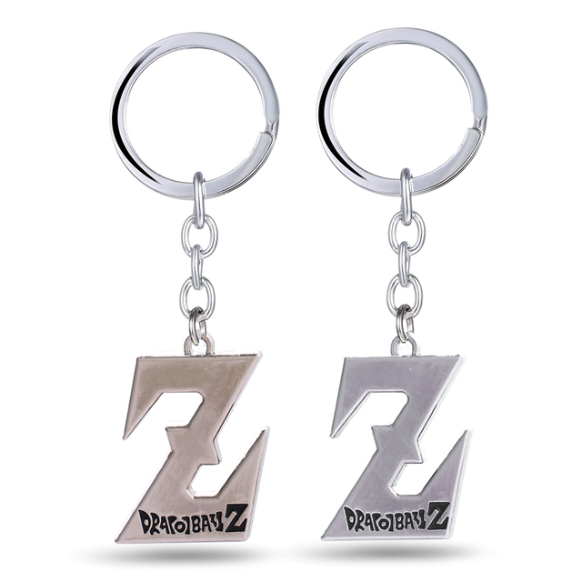 12/pcs/lot Dragon Ball Key Chain Logo Z Key Rings For Gift Chaveiro Car Keychain Jewelry Anime Key Holder Souvenir YS11114