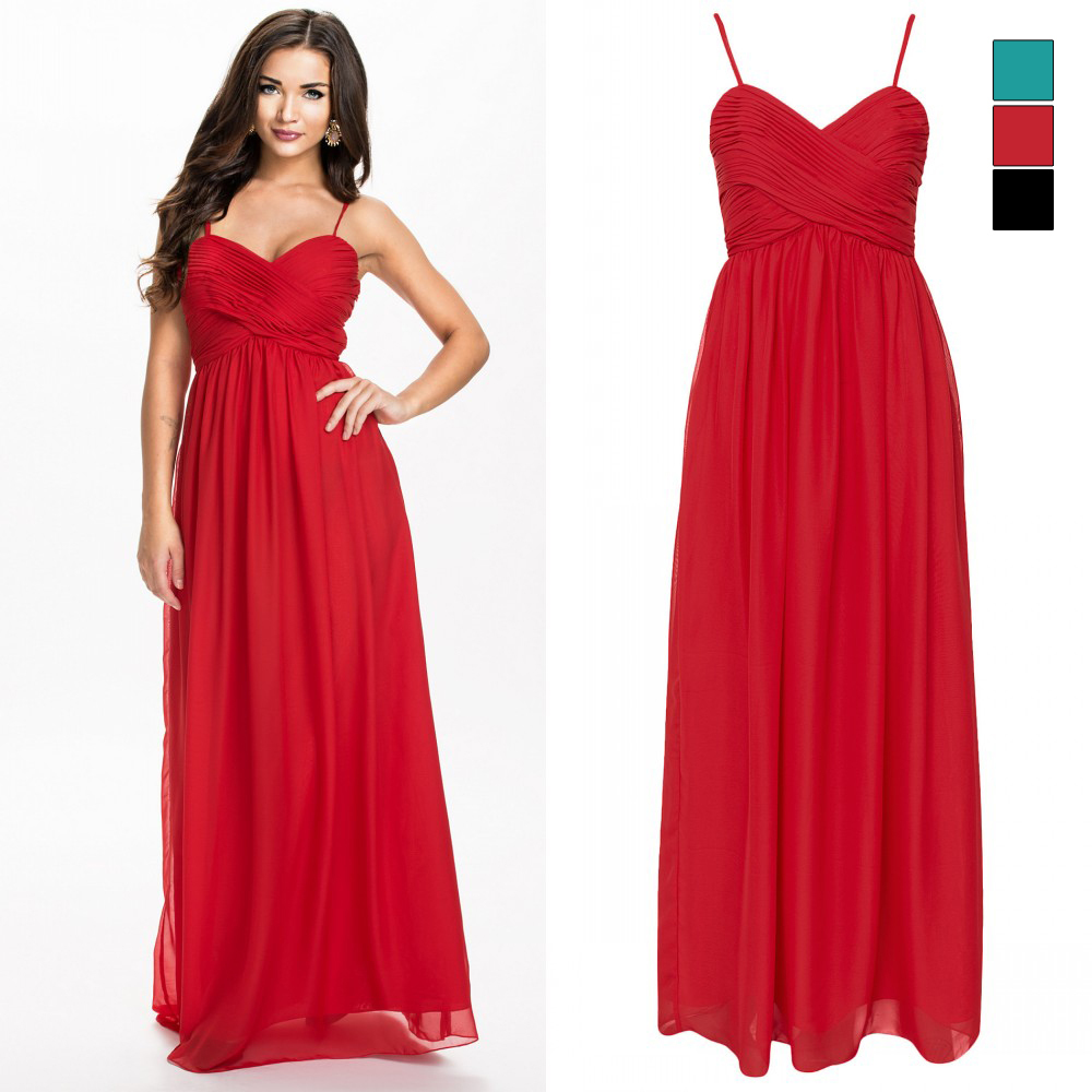 Aliexpress.com : Buy Hot Selling Red Dress A Line Spaghetti Straps ...