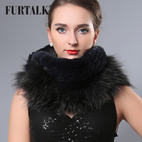 Cool Women S Winter Infinity Scarf Real Fox Rex Rabbit Fur Ring Fur Talk Design Fur