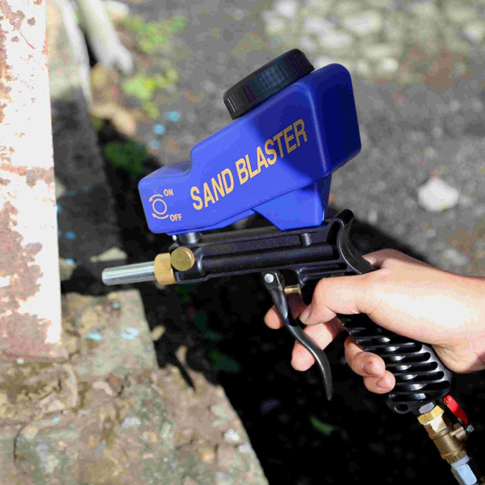 Small Size Easy Using Anti rust Protection Air Spot Sand Blaster Gravity Type Spray Machine