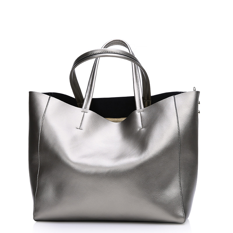 Famous Brand Bag Women Genuine Leather Handbag Fashion Solid Color Cowhide Shoulder Bag Large Casual Tote Composite Women Bag luxury genuine leather bag fashion brand designer women handbag cowhide leather shoulder composite bag casual totes