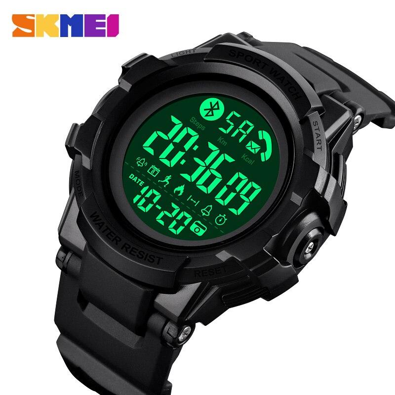 Skmei moda relógio inteligente bluetooth relógio de pulso smartwatch masculino chamada app mensagem lembrete reloj inteligente para huawei xiaomi 1501
