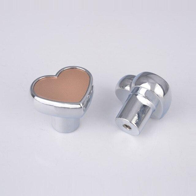 10 unids Zinc corazón puerta moderna aleación perilla del cajón del ...