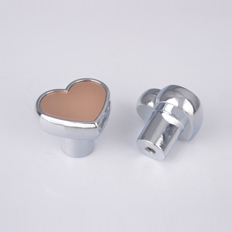 10pcs heart zinc alloy modern door knob cabinet drawer kitchen cupboard wardrobe pull handle pink silver