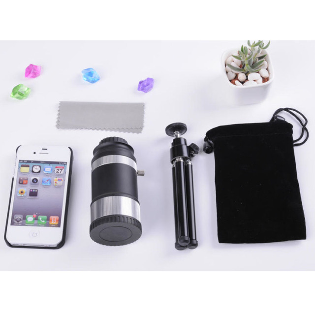 Profesional de Metal Universal de Micro 14X40mm Teleobjetivo Teléfono con Cámara Kit de Clip y un Trípode para Samsung iPhone Smartphone
