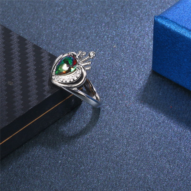 Colored crown ring Crown Shape Charming Sterling Dependable Synthetic Ring Women Can Dropshipping