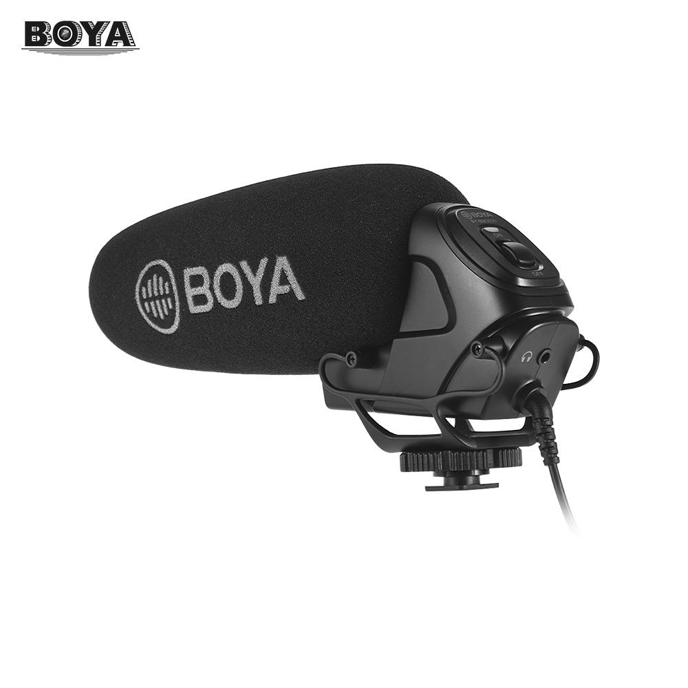 BOYA BY BM3030 On camera Shotgun Microphone Mic Supercardioid Condenser Microphone for DSLR Cameras Camcorders Audio