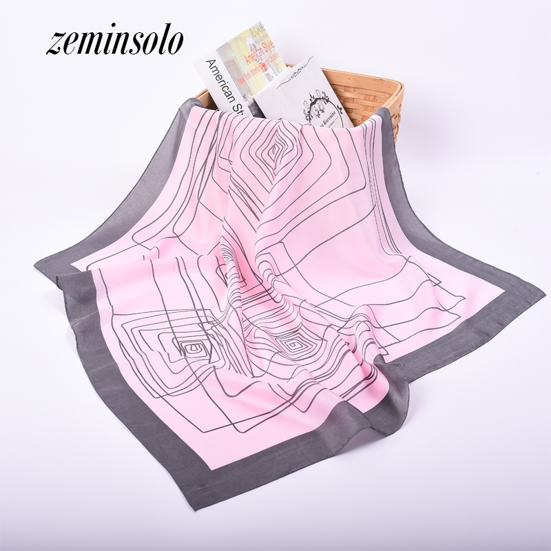 Karstā pārdošana Jaunā 2018 Satīna zīda šalle sievietēm Bandana mode Mīksta plānas šalles Sieviešu pavasara Cachecol zīda šalle 70 * 70cm