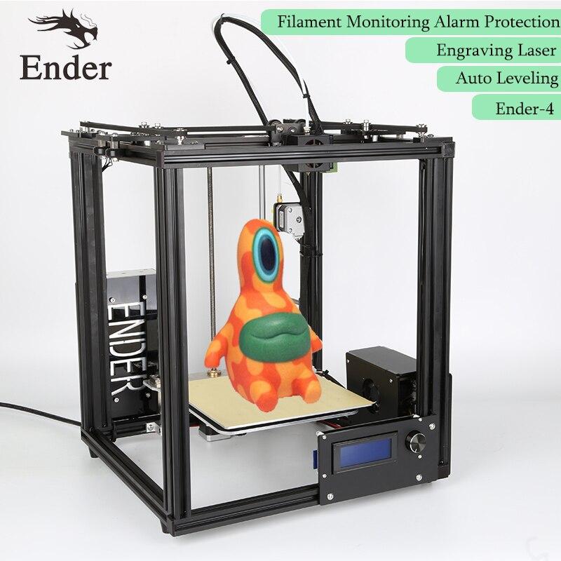 Ender-4 3D Imprimante Laser, Auto Nivellement, Filament Surveillance D'alarme Protection Reprap Prusa i3 core-H 3D imprimante Kit n 5 M filament
