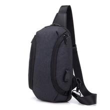 лучшая цена High Quality Male Shoulder Bags Usb Charging Crossbody Bags Men Anti Theft Chest Bag School Summer Short Trip Messengers Bag
