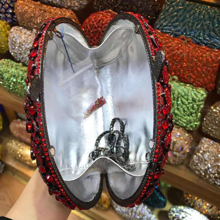 Красный/Золотой Кристалл цветок выдалбливают женские хрустальные клатчи на день сумки на плечо Сумочка вечерняя Свадебная вечеринка сумки