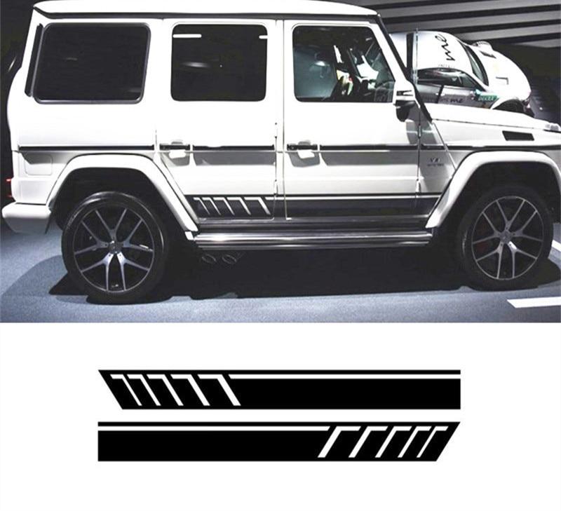 x2 Mercedes Benz AMG Black Edition Brabus Wing Mirror Decals ...