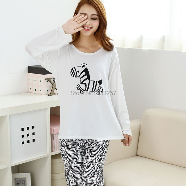 Beautiful Pajamas Long Sleeve Girl Pajamas Set White Birthday Gift Womens 4dfb22625