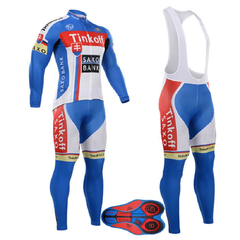 UCI 2018 Pro team Tinkoff Winter Long Sleeve Cycling Jersey Kit Ropa ciclismo Invierno Thermal Fleece bicycle Bike Clothing 2018 maillot ropa ciclismo invierno tinkoff winter cycling jersey thermal fleece long sleeve cycling clothing set mtb bike wear