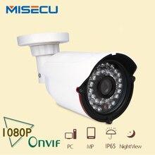 MISECU Full HD de 2.0MP cámara IP Onvif P2P bullet 36 IR Hi3516C Cámara de Visión Nocturna 1920*1080 P XMEye ABS Cámara cctv seguridad para el hogar