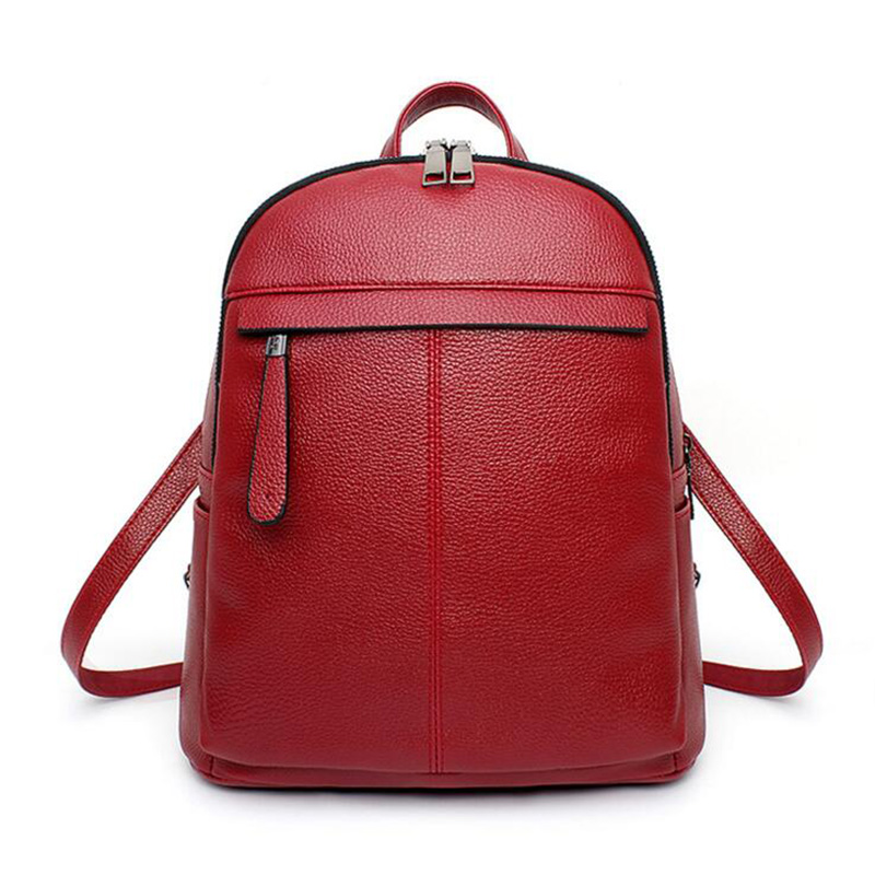 Women Big Backpacks Candy Color Zipper Feminina Shoulder Bags Street Bags Brands European Designer Teenager Girls