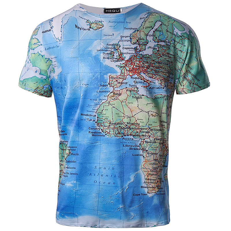 Brand 3D T Shirt Men World Map T-shirt Funny T Shirts Male 2018 Summer Short Sleeve Anime Tops Tee Fashion Mens Clothing