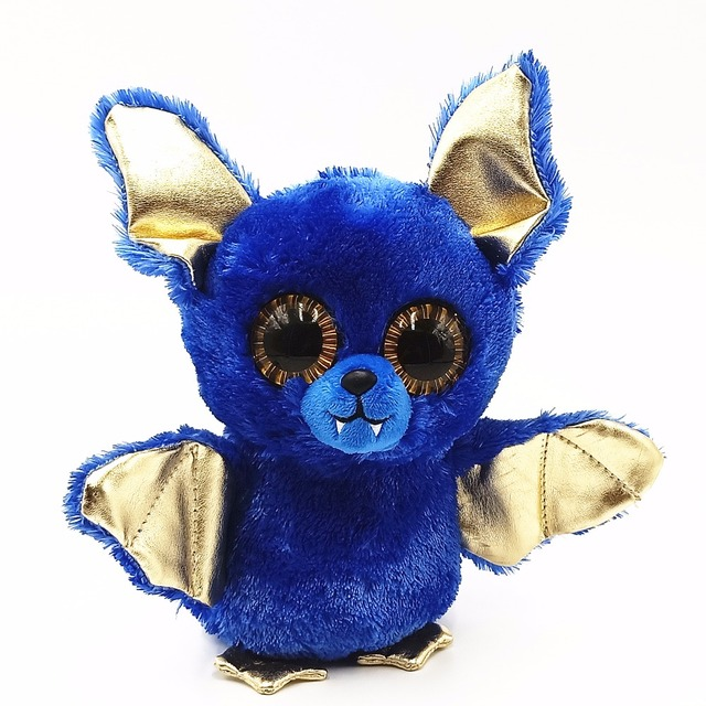 Ty Beanie Boos Big Eyes 15cm Halloween Blue Bat Plush Regular Stuffed  Animal Collection Soft Doll Toys For Children a7bfd654f87