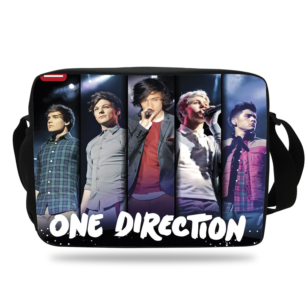 Bags for school on sale - Aliexpress Com Buy 2017 Hot Sale One Direction Shoulder Bag Boys Messenger Bags For School Girls Teenagers Shoulder Messenger Bag Children From Reliable